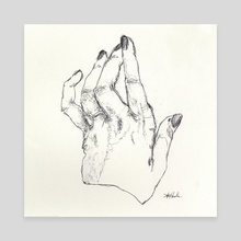 Hand study no.1, Hand of God - Canvas by Annelisa Hermosilla