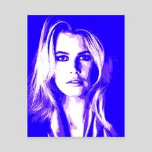 NEW POP SERIES / Claudia 5 - Canvas by Giorgio D'Albano