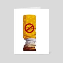 No smoking - Art Card by Alisa Rysaeva