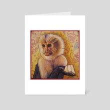 Cake Monkey - Art Card by Annette Hassell