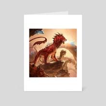 Regal Leosaur - Art Card by Ilse Gort