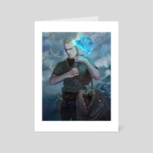 Aegir, the fisher - Art Card by Ivan Garcia