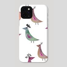 Watercolor abstract bird  - Phone Case by Genevieve Blais