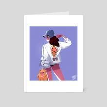 BaseBall girl 01 - Art Card by Charles Lemor