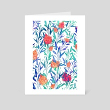 Vibrant Floral - Art Card by 83 Oranges