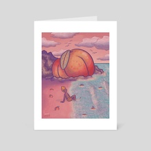 Peach Beach - Art Card by Creesian Skeen Villaruel