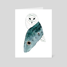 Wise Owl - Art Card by Hannah Wilson