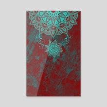 Mandala drop - Acrylic by Alexandre Ibáñez