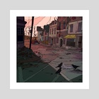Somewhere in Concord the Crows are watching-- - Art Print by Kim Hu