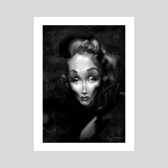 Marlene Dietrich by Alexander Novoseltsev