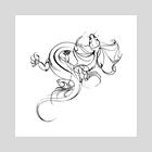 Dragon - Art Print by Kristina Thalin