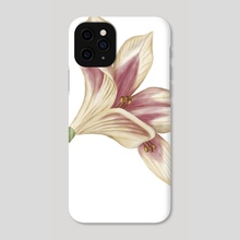 Lily - Flower - Pink - Botanical - Phone Case by G Goularte