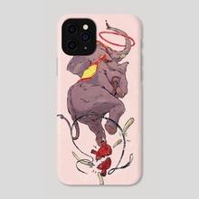 Circus Elephant - Phone Case by Daniel Ido