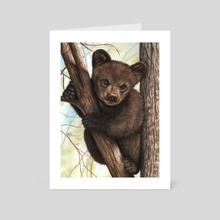 Bear Cub - Art Card by Richard Macwee