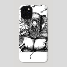 Cthulhu Mage  - Phone Case by Łukasz Bojke