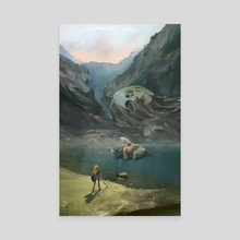 Fairy Fountain - Canvas by Evyn  Fong