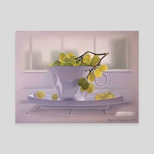 grapes in the cup - Canvas by Katerina Bukuros