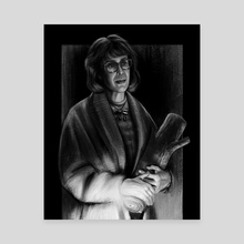 Log Lady - Twin Peaks - Canvas by John Dervishi