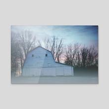Sunrise Barn - Acrylic by Robbie Edwards