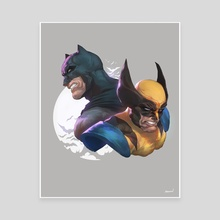 Batman and Wolverine - Canvas by Mohammed Agbadi