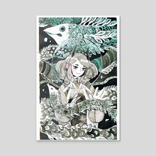 Oni & Eel - Acrylic by koyamori