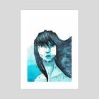 Rain - Art Print by celine espitallier