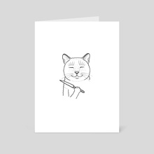 feline friend - Art Card by Michelle A