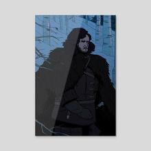 Jon Snow - Acrylic by Ian Moore
