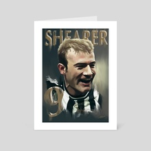 Alan Shearer - Art Card by rory taylor