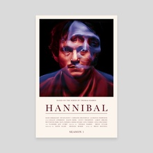 Hannibal - Season 1 - Canvas by Carina Tous