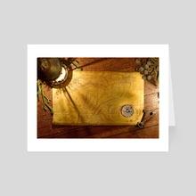Lantern & Treasure Map - Art Card by Sara Tarr