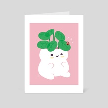 Friendly Planter - Art Card by Bree Lundberg
