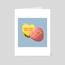 Sweet heart - Art Card by funky fatigue