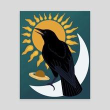 Crow - Canvas by Loryn Martini