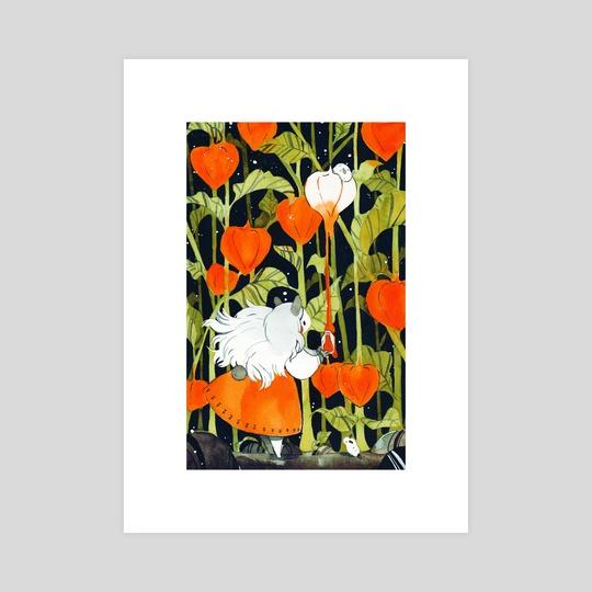 Ground cherry red by Julie W.