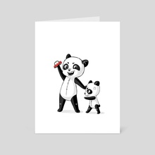 Panda Brothers - Art Card by Indré Bankauskaité