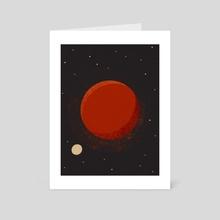 Mars Planet - Art Card by Amer Karic