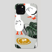 White Pigeons - Phone Case by 83 Oranges