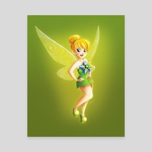 Tinker Bell - Canvas by Louis Wiyono