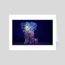 Ribbon Elephant Family  - Art Card by Valentina Ioannou