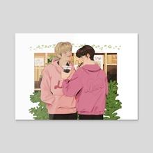 Pink Jackets - Acrylic by Ulsi