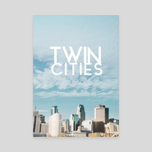 Twin Cities-Minneapolis and Saint Paul Minnesota - Canvas by Anthony Londer