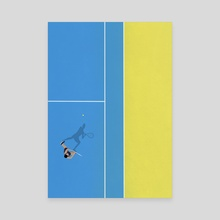 Tennis Player  - Canvas by From Above