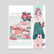 Porsu-Tea Time - Canvas by Kaedi