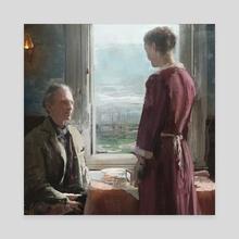 Breakfast - Canvas by Joseph Feely