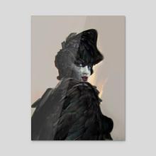 Leda - Acrylic by Andrei Riabovitchev