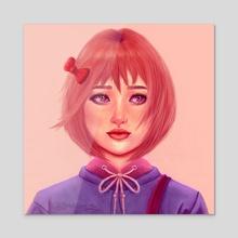 Kim bok Joo - Acrylic by RABIA EL MOUDEN