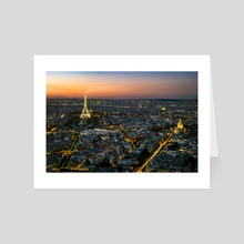 Eiffel Tower at Sunset - Art Card by Brian Fisher