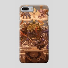 Defy The Legends- Pokemon Fanart Print - Phone Case by Faith Ong