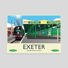 Exeter Atlantic Coast Express - Canvas by MIKE TURTON